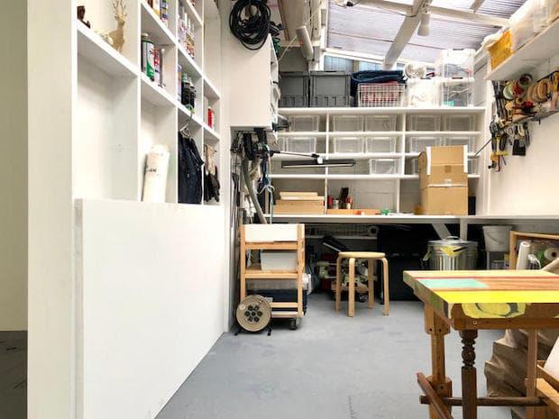 工房(スタジオ)スペース。作家の工房が開かれた空間に。