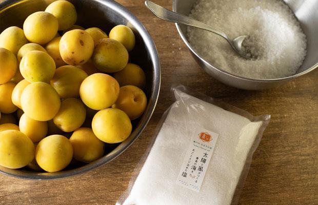 小豆島の隣にある豊島(てしま)の塩屋さん〈てしま天日塩ファーム〉の天日塩でつけました。
