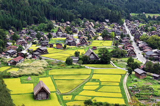 世界遺産白川郷がある白川村。