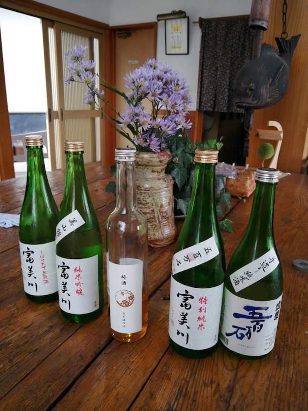 今回試飲させていただいた5種類の日本酒。