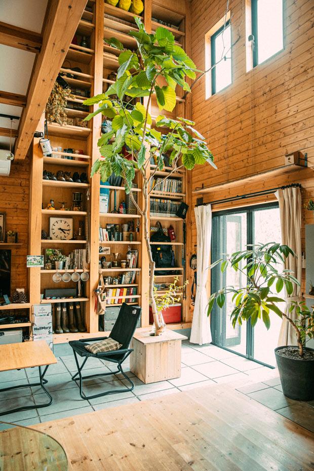 BESS「ワンダーデバイス」の暮らしをおもしろくする設備である「ハシゴde本棚」が2階まで。