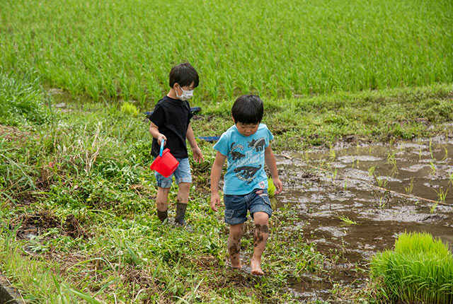泥だらけの子どもたち