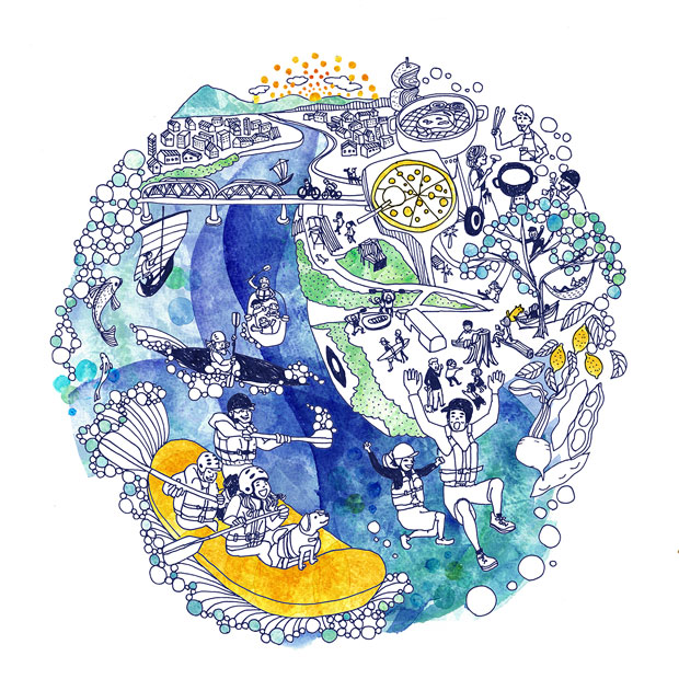 イラストレーターMACO. Pen&paperによって表現されたリバポの世界観。