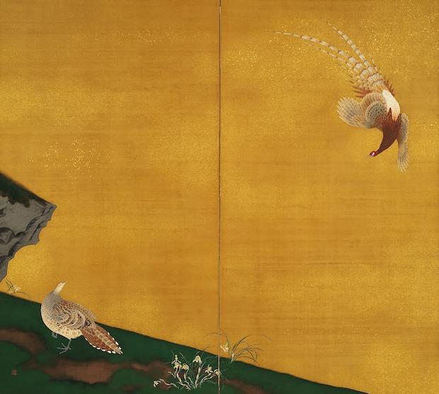 石崎光瑶『春律』1928年 京都市美術館蔵