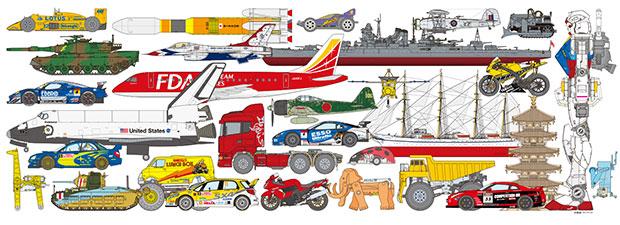 静岡市では、戦車、飛行機、自動車といったスケールモデルからキャラクターモデルまで、幅広い模型がつくられている。(写真提供:静岡ホビースクエア)