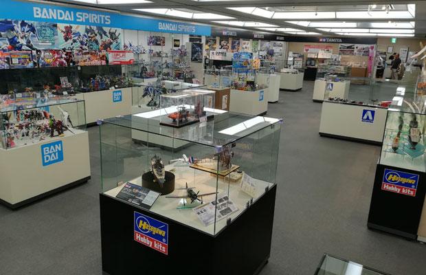 無料で入れる常設展示室では、各メーカーの最新模型や、静岡の伝統工芸品が見られる。(写真提供:静岡ホビースクエア)
