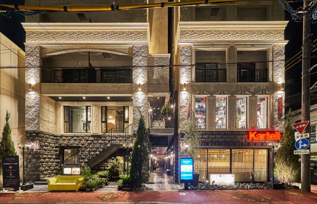 大正8年築の〈キネマ館〉の名前とデザインを踏襲し、新築された〈EZAKI SOZOSYA キネマ館〉。(写真提供:デザインオフィス創造舎)