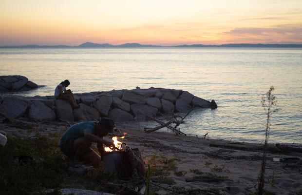 西側を向いている海岸ではサンセットを楽しめます。