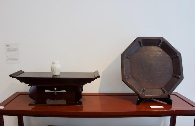 安川慶一の仕事展 木工品展示