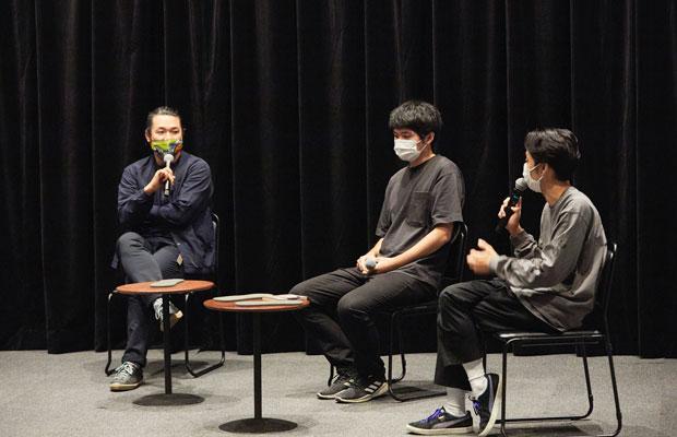 トークの様子。左から大島慶太郎さん、折笠良さん、環ROYさん。(撮影:リョウイチ・カワジリ 写真提供:札幌文化芸術交流センター SCARTS)