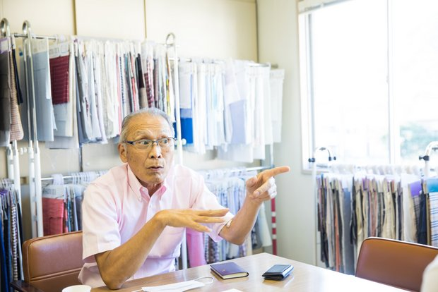〈公益財団法人 北播磨地場産業開発機構〉理事長の齋藤太紀雄さん。