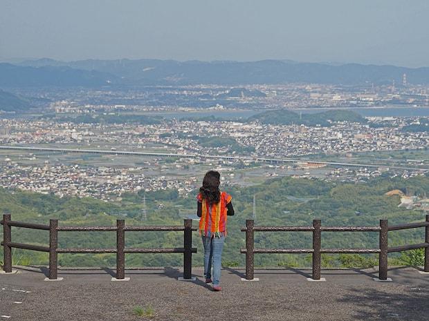 遙照山総合公園の展望台からの眺め