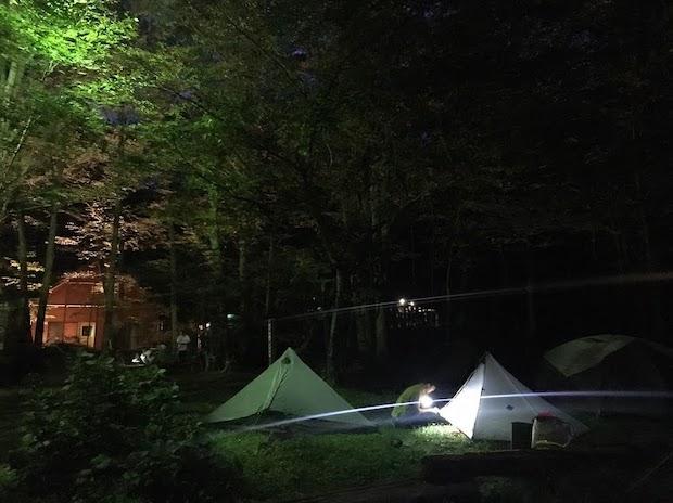 衣川ふるさと自然塾のキャンプ場
