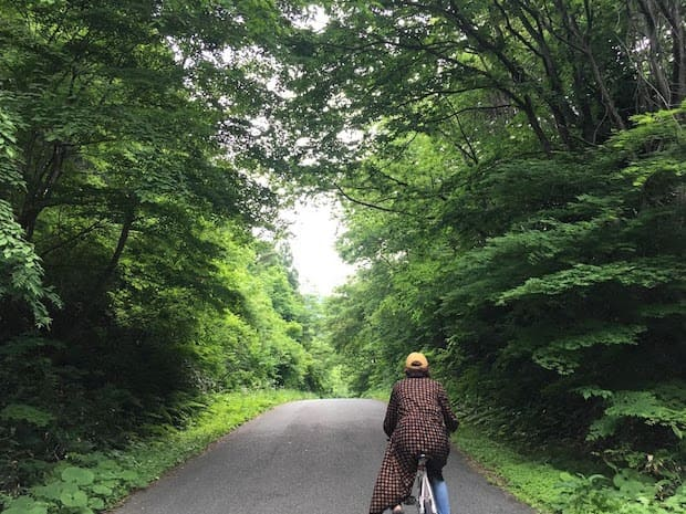 自転車で漫画「リトル・フォレスト」のロケ地巡り