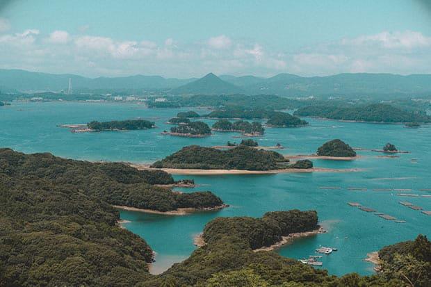 九十九島を見下ろす景色