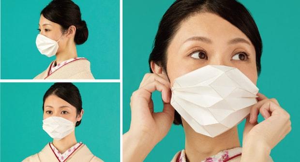 デザインチーム・Paper Parade(ペーパーパレード)より発売された〈折り紙マスク〉