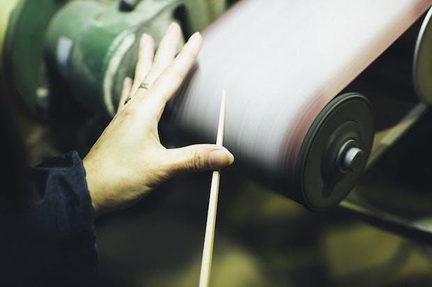 〈ヤマチク〉による竹箸の製造工程