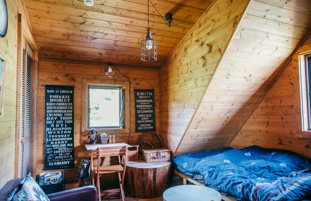屋根裏部屋のような構造がたまらない。