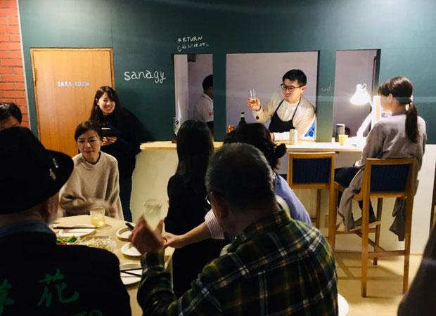 1階のカフェスペースでは、イベント「シゴトバー」も開催された。