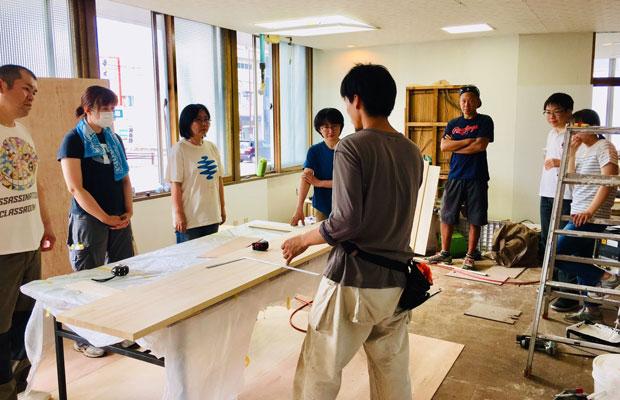木工業のプロを招いて行われたリノベ勉強会。