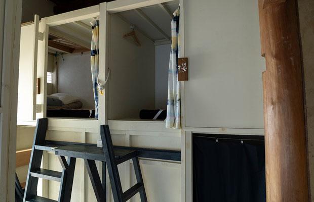 ドミトリーはカプセル型で個室感のあるタイプ。