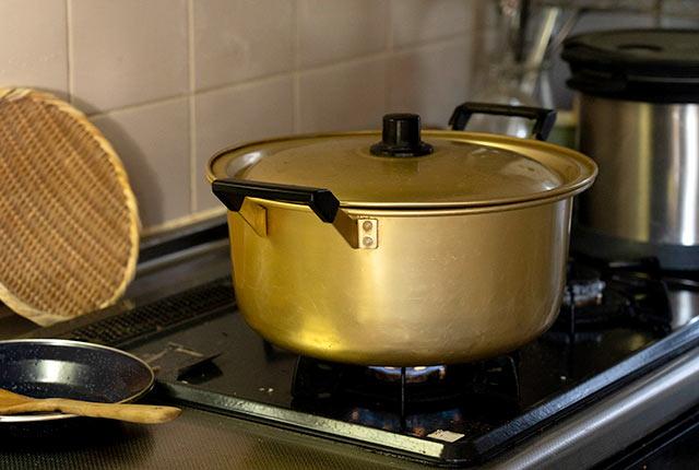 母譲りの大鍋
