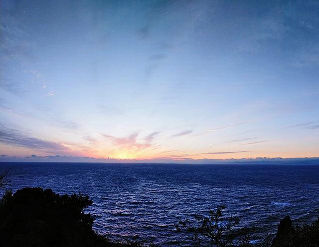 恋人岬からの夕陽