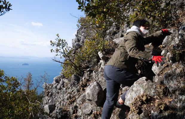 山歩きというか岩登り。たった2キロの行程でもハラハラ・ドキドキがつまってました。