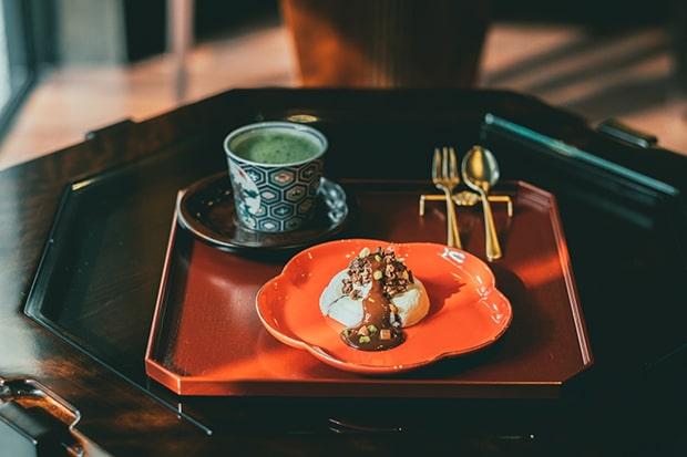抹茶、コーヒーのセットもご用意。撮影:miki watanabe