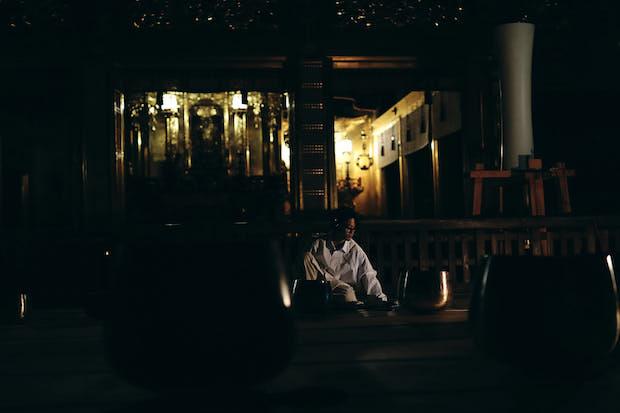 勝興寺でのレコーディング風景