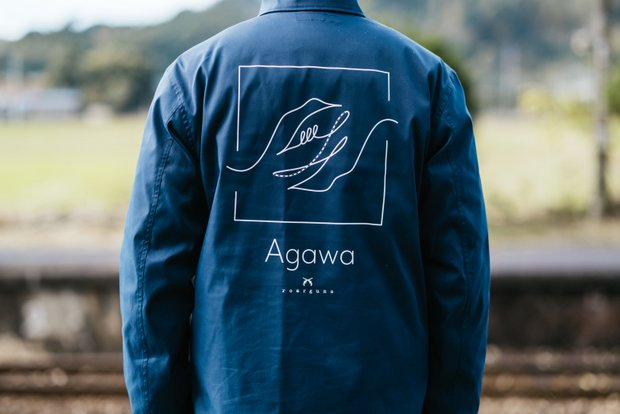 Agawaオリジナルジャケットのバックショット。
