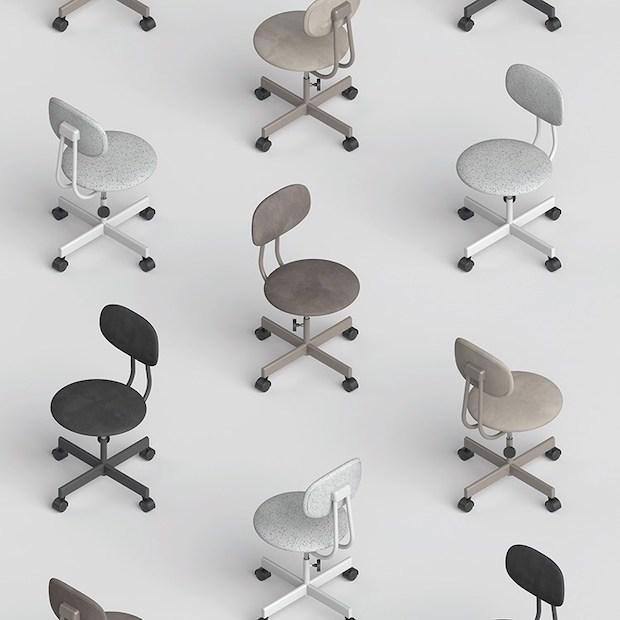 """リボーン・プロジェクトの「Jim Chair」製造:株式会社ノーリツイス 昔ながらの事務イスをアップデートした""""家で使える""""事務イス。"""