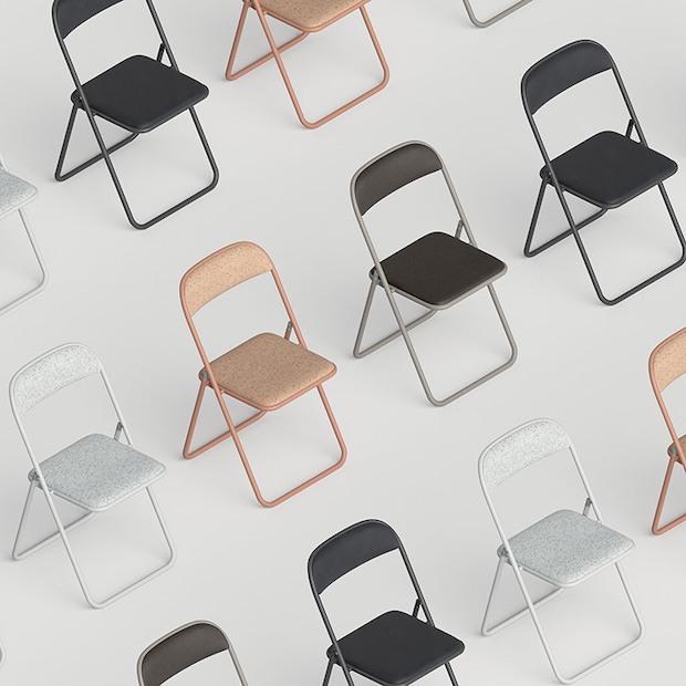 リボーン・プロジェクトの「PIPE chair」 製造:株式会社ノーリツイス