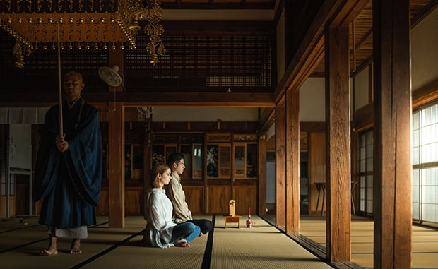 天桂寺での座禅体験。思い出深い旅になりそうですね
