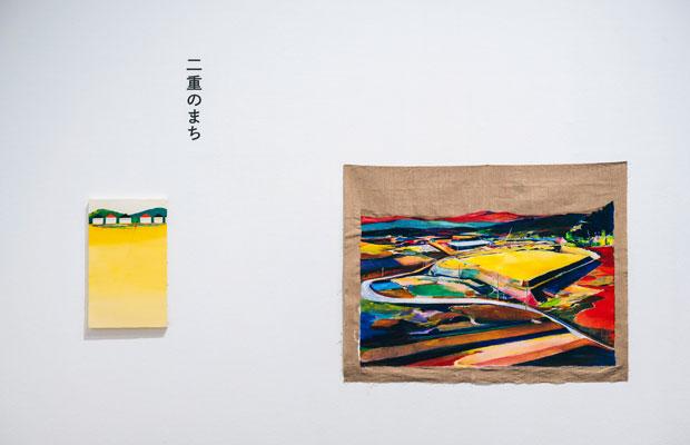 瀬尾夏美『二重のまち』より『あたらしいまち』2017年(右)『とおくへつづく』2015年(左)。