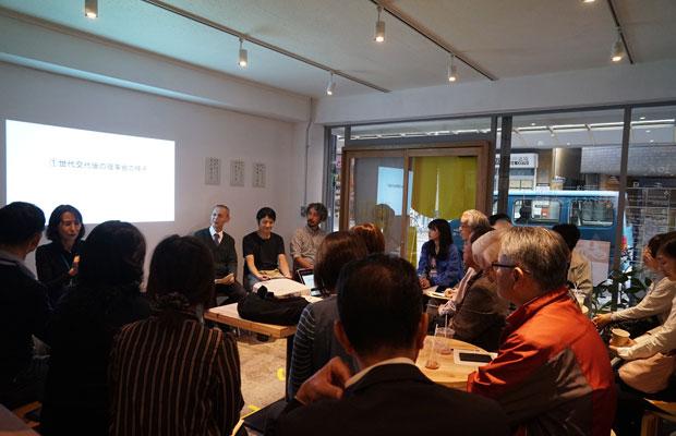 まちづくりや、商店街に関する講座では商店街理事の方々も参加。