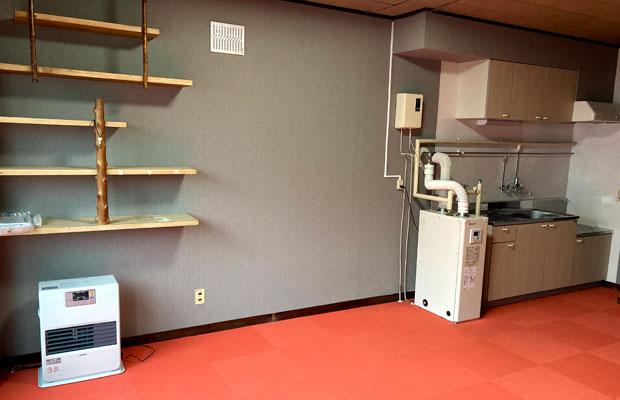 2階の台所やお風呂場などがある居住フロア。