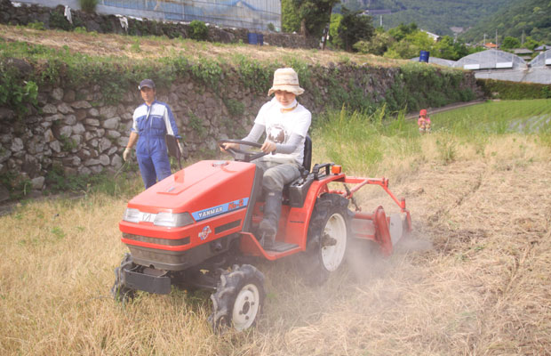 就農1年目。トラクターを購入。私も試運転。