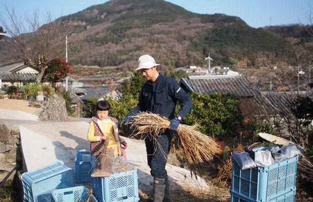 いろは(娘)も小さい頃はよく一緒に畑作業をしていました。