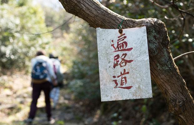 山の中の遍路道。ハイキングとしても楽しめます。