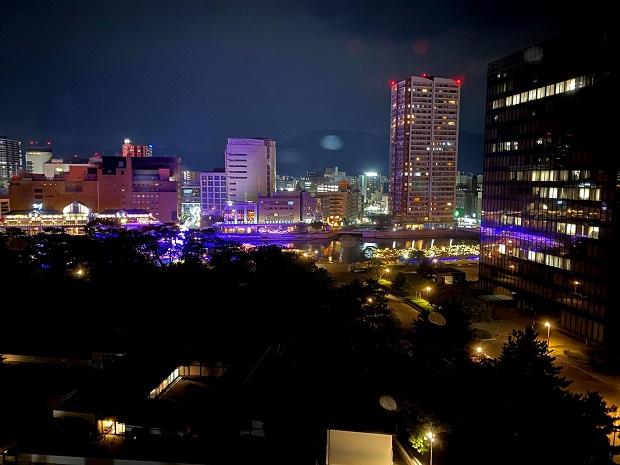 天守閣から眺める小倉のまちの夜景