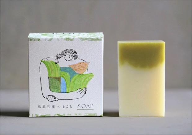出雲和漢 × まこも 化粧石鹸 「禊」2970円(税込)。