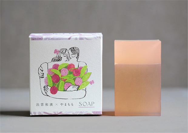 出雲和漢 × やまもも 化粧石鹸 「縁」2970円(税込)。