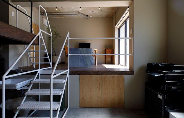 SWAY DESIGN事務所。各テナントごとに内装はそれぞれ異なる。
