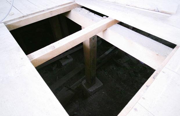 1階は床下空間が広い。この高さを利用して101号室はスキップフロアを計画することに。