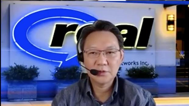 リアルネットワークス株式会社のアジア太平洋地区副社長・高村徳明さん。取材はオンラインで行った。