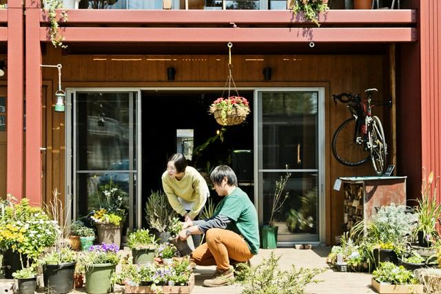 きれいに咲くガーデニングのお花も繁昌さんの趣味のひとつ。