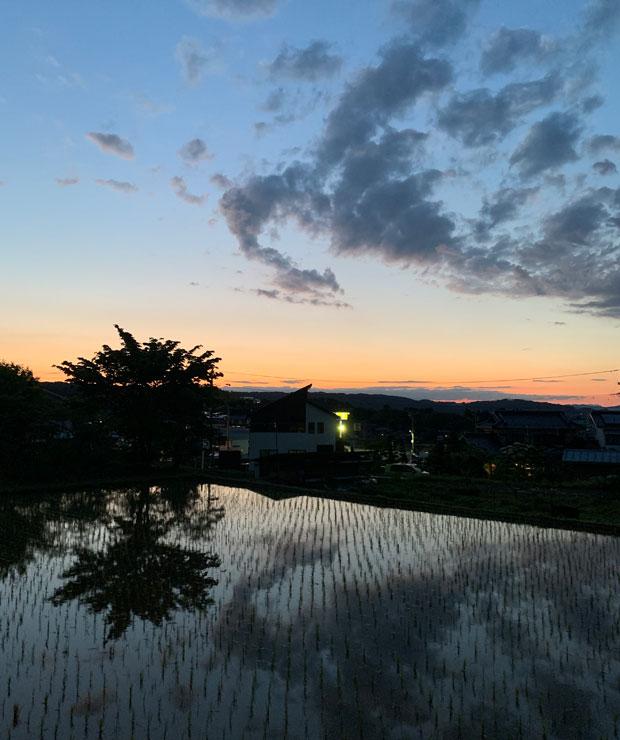 立科町初日の夕景。