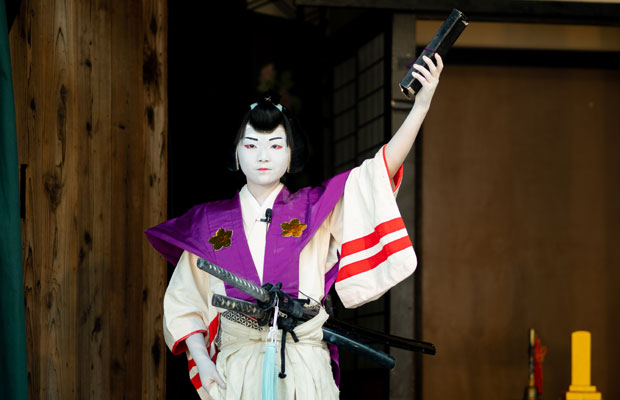 2019年、これがいろはにとって子ども歌舞伎最後の演目となりました。しゅっとした男役がかっこよかった。