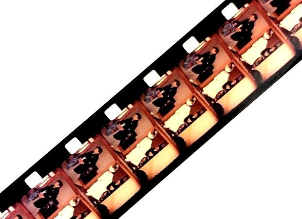 地域から発掘した8ミリフィルムの断片。